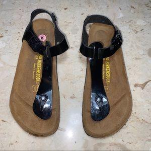Birkenstock Gizeh ankle strap Black women's 9